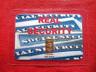 2 gram GOLD bar TGR BULLION REAL SECURITY EDITION 999 Sealed In Assay card LQQK