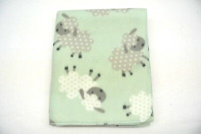 Sheep Baby Blanket Toddler Can Be Personalized 28x44 Green