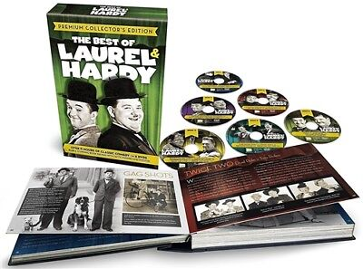 THE BEST OF LAUREL & HARDY PREMIUM COLLECTOR'S EDITION New Sealed 6 DVD + Book