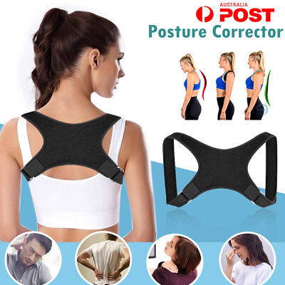 Posture Corrector Shoulder Back Brace Slouching Clavicle Support Straps Belt AS2