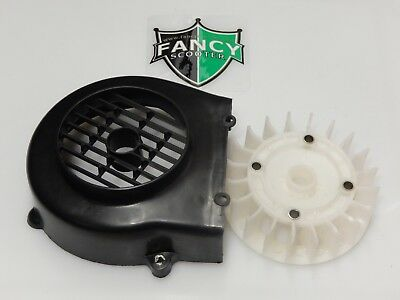 Gy6 139Qmb Engine Fan & Cover For 50Cc Scooters Taotao,bms,roketa,jonway,jcl,nst