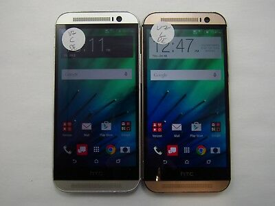 Lot of 2 HTC One M8 HTC6525 Verizon Check IMEI Fair Condition 5-229