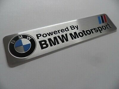 BMW Motorsport /// M Power Performance, Alu 3D Aufkleber Sticker Plakette badge.