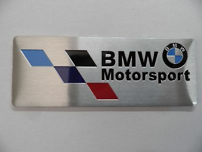 BMW Motorsport /// M Power Performance Alu 3D Aufkleber Sticker Plakette badge