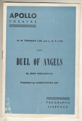 "Vivien Leigh  &  Claire Bloom   ""Duel Of Angels""   Playbill   London  1958"
