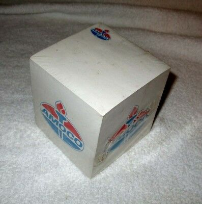 AMOCO GAS SERVICE STATION Vintage Advertising Paper Note Pad Cube