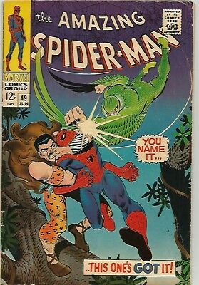 AMAZING SPIDER-MAN # 49   Beautiful Early Silver Age Nice!