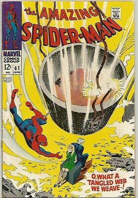 AMAZING SPIDER-MAN # 61   Beautiful Early Silver Age Nice  Bondage Cover