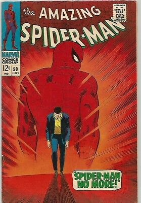 AMAZING SPIDER-MAN # 50   Beautiful Silver Age Classic Cover   1st Kingpin KEY