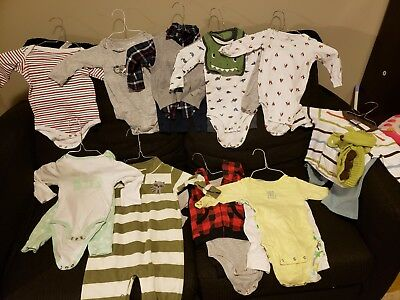 10 sets of outfits baby boy clothes lot 12 months-Dream Big
