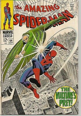 AMAZING SPIDER-MAN # 64   Beautiful Early Silver Age Nice!