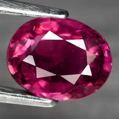 1.16Ct. Charming! Oval Facet Top Hot Pink Natural Tourmaline Nigeria