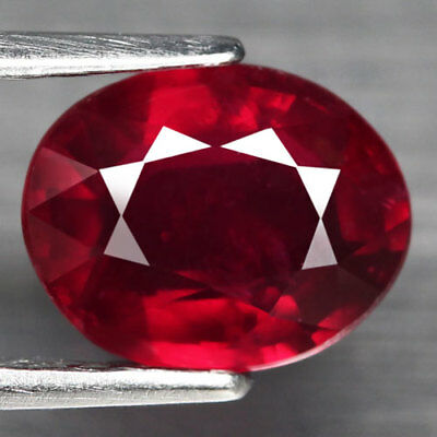 2.51Ct. Captivating! Oval Facet Top Blood Red Natural Ruby Madagascar