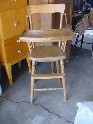 Vintage Baby High Chair with Tray