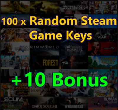 100 x Random Steam Keys ✅ Value Up $125-$155* ✅ INSTANT DELIVERY** ✅ REGION FREE