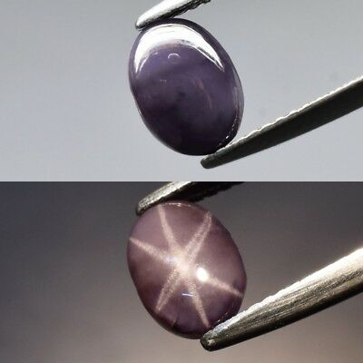 Rare! 2.59ct 8.4x6.2mm Oval Cabochon Natural Purple Sharp 6 Ray Star Spinel