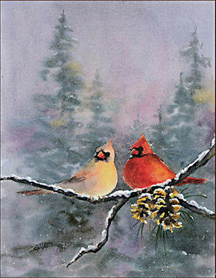 ACEO Limited Edition PAIR of CARDINALS by Sharon Sharpe!