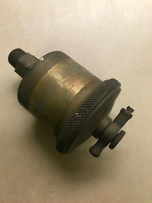 Vintage Lunkenheimer Ideal #2 Brass Grease Cup Lubricator Old Hit Miss