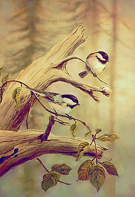ACEO Limited Edition CHICKADEES by Sharon Sharpe!!!!