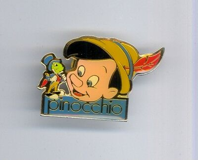 Disney Pinocchio Face with Jiminy Cricket Older Promo Pin 1990s