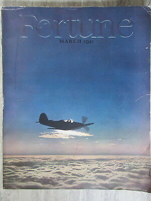 Old March 1941 Fortune Magazine WW2 Air War Airplane on cover