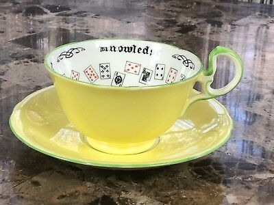 Aynsley Cup Of Knowledge Bone China Cup & Saucer