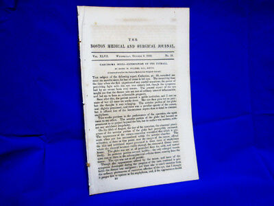 1852 Medical Antique - Druggist Self Experiments With Cannabis Indica