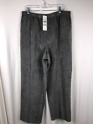 52bf34ff11d Alfred Dunner Womens Corduroy pants size 18 Gray pull on Proportioned  Medium NWT