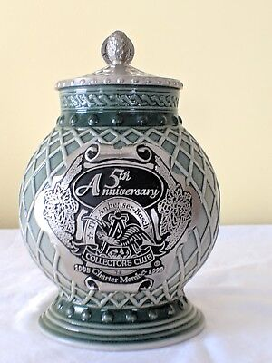 Budweiser Collectors Club 5th Anniversary Charter Member Stein CB13C Excellent!!