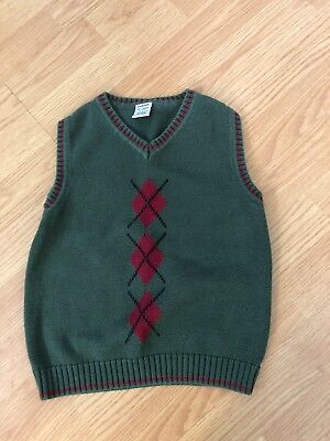 GYMBOREE boys size XX-Large ( 7 )  green sweater vest