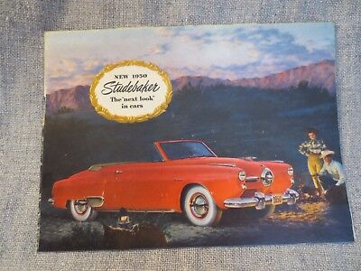 Vintage 1950 Studebaker Advertising Poster Brochure Print