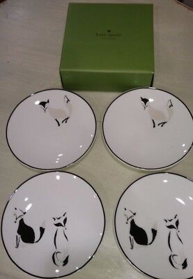 New Lenox Kate Spade Forest Drive Fox Set of 4 Tidbit Dessert Plates 5.75""