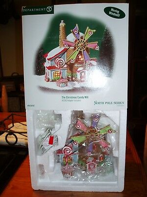 DEPT 56 NORTH POLE VILLAGE CHRISTMAS CANDY MILL *Excellent Store Display* (B)