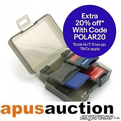 Multi Slot 8 in 1 SD Card Storage holder Case for Camera Traveling