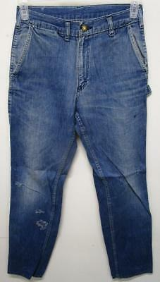 Vintage Oshkosh Farm Work Talon 42 Union Made Sanforized Denim Jeans 27X32