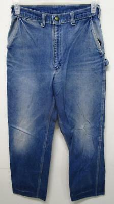 Vintage Oshkosh Union Made Sanforized Farm Work Talon 42 Denim Jeans 28X30