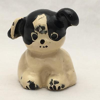 Vintage / Antique PUP? Small Cast Iron Figure Small Dog / Puppy Paperweight