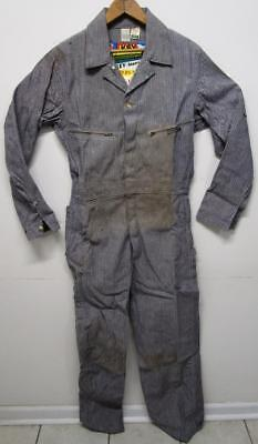 Destroyed Vintage Nos Key Imperial Sanforizd Farm Work Keyweave Denim Coveralls