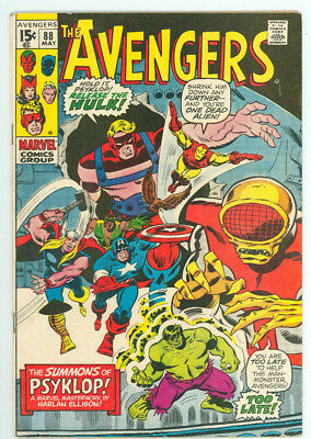 Avengers #88 Psyklop Marvel Comics 1971 FN Combined Shipping Available