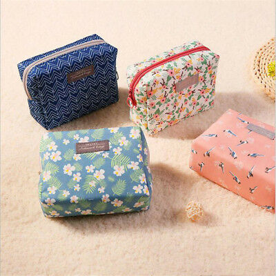 Travel Bag Portable Purse Toiletry Floral Cosmetic Bag Organizer Makeup Pouch B