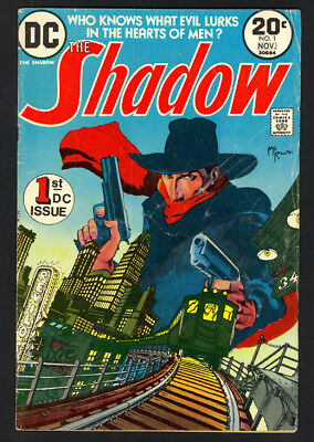 The Shadow #1 - 1st DC Issue - Kaluta Cover - DC Comics (1973) - VG/Fine