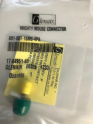 Glenair 801-007-16M6-4PA Mighty Mouse Connector with Contacts - BRAND NEW SEALED