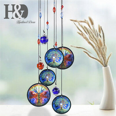 Life Of Tree Wind Chime Crystal Ball Prism Suncatcher Home Garden Decor Kid Gift