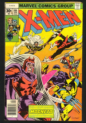 X-Men #104 - 1st App Of Starjammers - Marvel Comics (1977) - VG/Fine