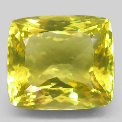 33ct.Shimmering Gem! 100%Natural Top Lemon Quartz Unheated 20x18mm.AAA Nr!.