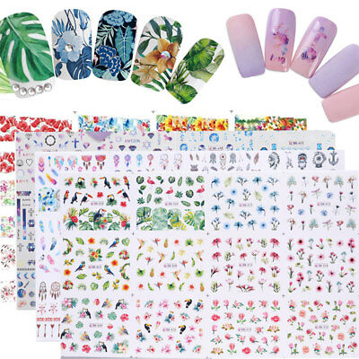 12pcs in1  Animal Nail Art Water Decal Stickers Manicure Tips Decoration
