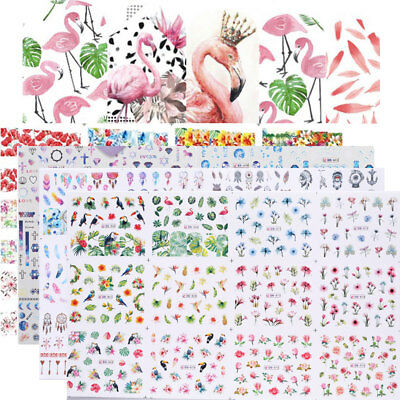 12pcs in1 Flamingo Stickers Ongle Water Manucure Stickers Ongles Décoration Tips