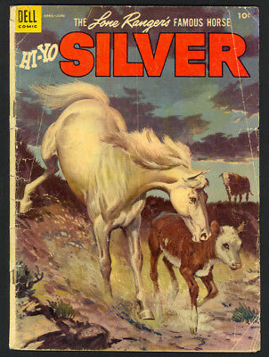The Lone Ranger's Famous Horse Hi-Yo Silver #10 - Dell (1954) - FR/GD