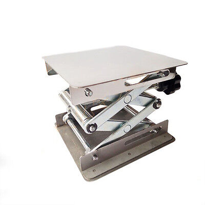 "4x4""Lab-Lift Stainless Steel Lab Lifting Platform Stand Rack Scissor Lifter"