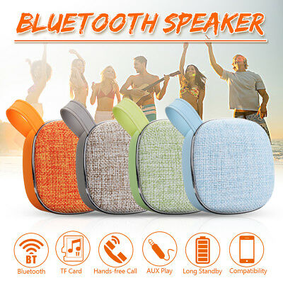Mini Wireless Bluetooth Speaker Outdoor Subwoofer Stereo USB FM Radio Player TF